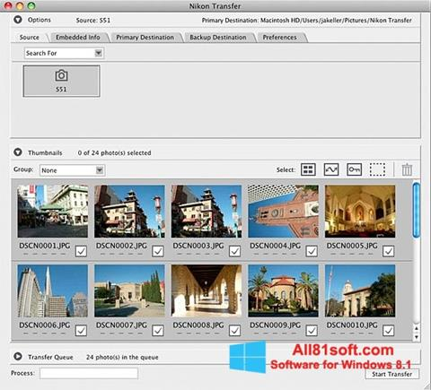 Screenshot Nikon Transfer Windows 8.1
