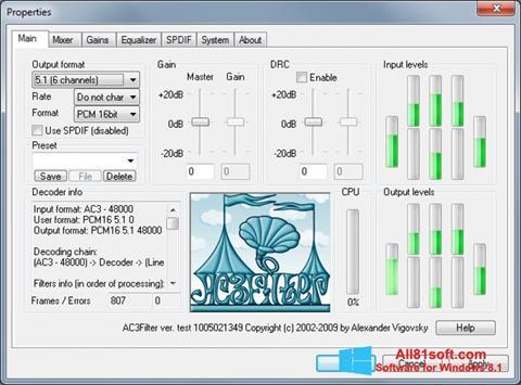 Screenshot AC3Filter Windows 8.1