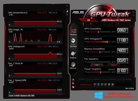 Screenshot ASUS GPU Tweak Windows 8.1