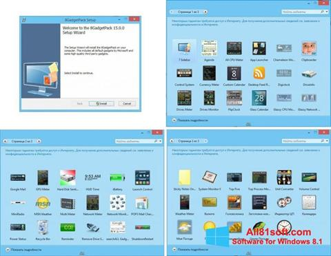 Screenshot 8GadgetPack Windows 8.1