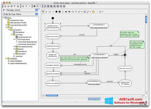Screenshot ArgoUML Windows 8.1
