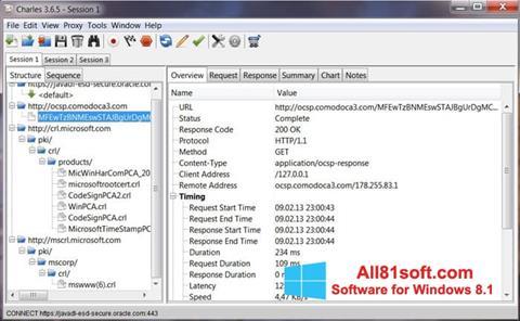 Screenshot Charles Windows 8.1