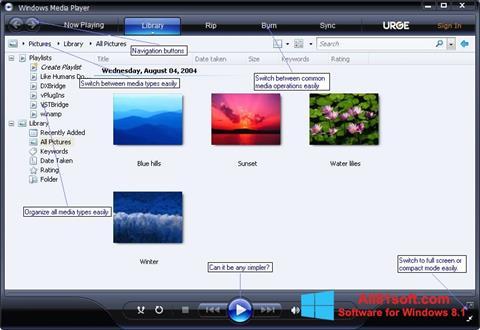 Screenshot Media Player Windows 8.1