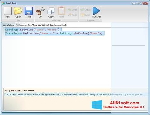Screenshot Small Basic Windows 8.1