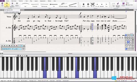 Screenshot Sibelius Windows 8.1