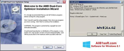 Screenshot AMD Dual Core Optimizer Windows 8.1