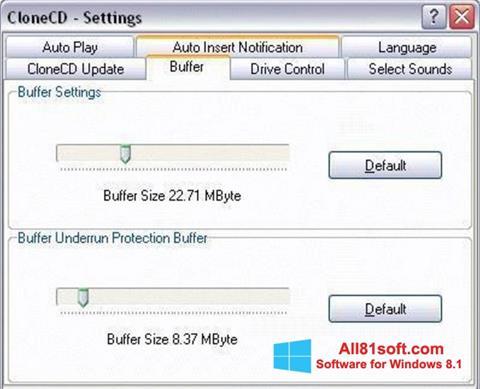 Screenshot CloneCD Windows 8.1
