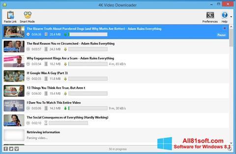 Screenshot 4K Video Downloader Windows 8.1