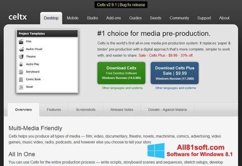 Screenshot Celtx Windows 8.1