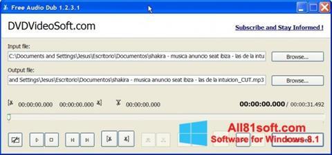 Screenshot Free Audio Dub Windows 8.1