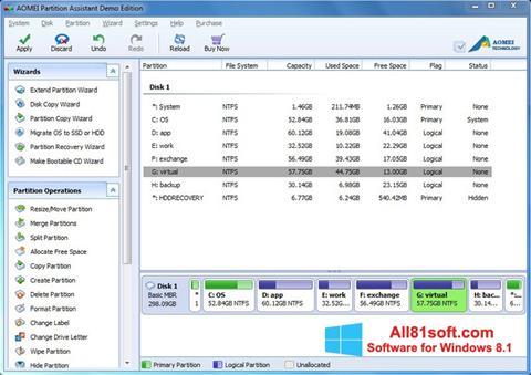Screenshot AOMEI Partition Assistant Windows 8.1