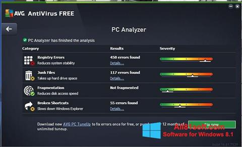 Screenshot AVG AntiVirus Free Windows 8.1