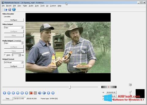 Screenshot Avidemux Windows 8.1