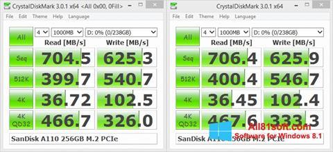 Screenshot CrystalDiskMark Windows 8.1