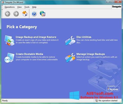 Screenshot Seagate DiscWizard Windows 8.1