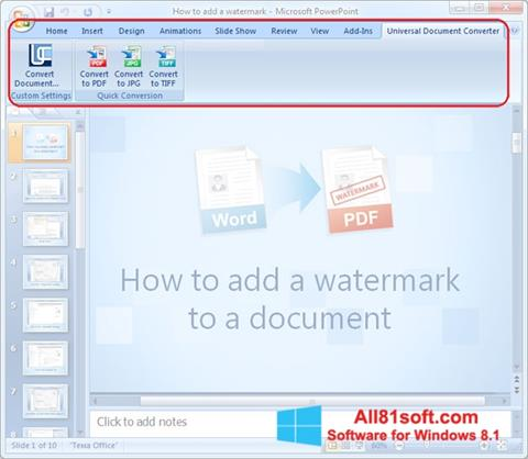 Screenshot Microsoft PowerPoint Windows 8.1