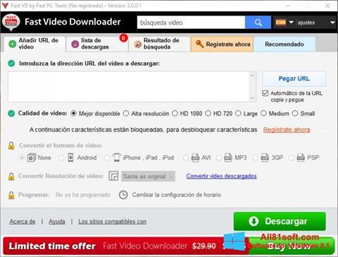 Screenshot Fast Video Downloader Windows 8.1
