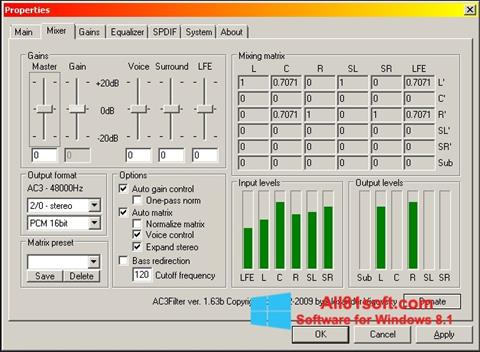 Screenshot AC3 Codec Windows 8.1