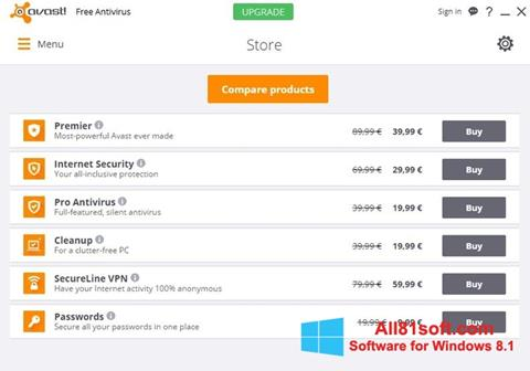 Screenshot Avast Free Antivirus Windows 8.1