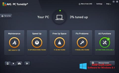 Screenshot AVG PC Tuneup Windows 8.1