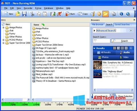 Screenshot Nero Burning ROM Windows 8.1