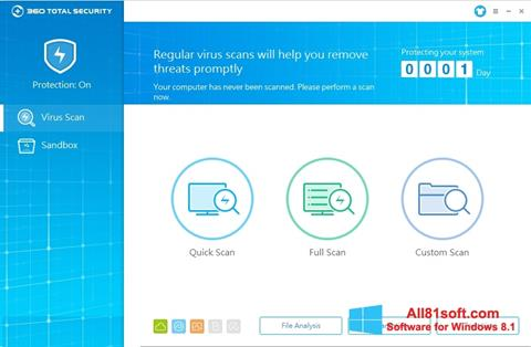 Screenshot 360 Total Security Windows 8.1