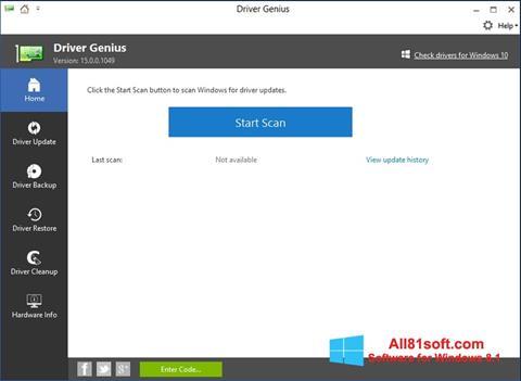 Screenshot DriverScanner Windows 8.1