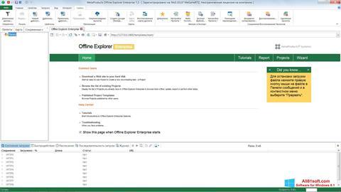 Screenshot Offline Explorer Windows 8.1