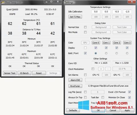 Screenshot Real Temp Windows 8.1