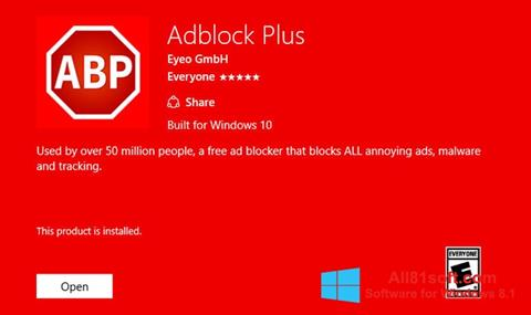Screenshot Adblock Plus Windows 8.1