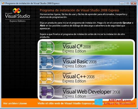 Screenshot Microsoft Visual Studio Windows 8.1