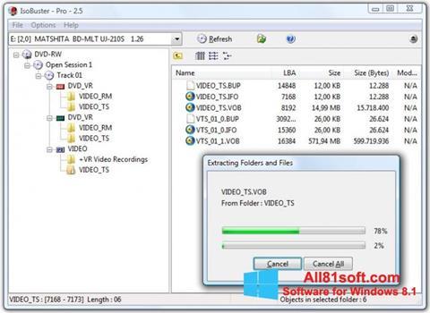 Screenshot IsoBuster Windows 8.1