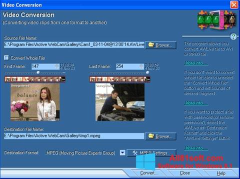 Screenshot Active WebCam Windows 8.1