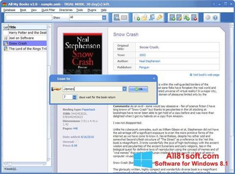 Screenshot All My Books Windows 8.1