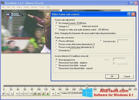 Screenshot VirtualDubMod Windows 8.1