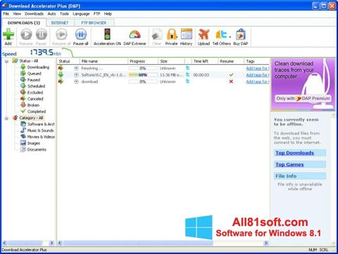 Screenshot Download Accelerator Plus Windows 8.1
