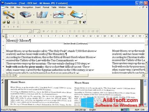 Screenshot CuneiForm Windows 8.1