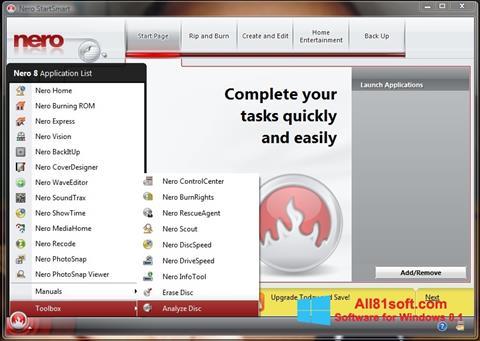 Screenshot Nero StartSmart Windows 8.1