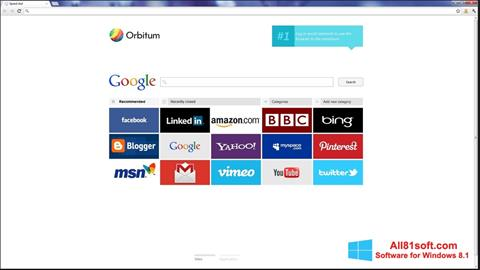 Screenshot Orbitum Windows 8.1