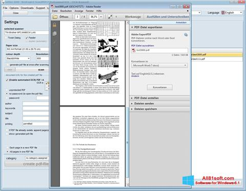 Screenshot Scan2PDF Windows 8.1
