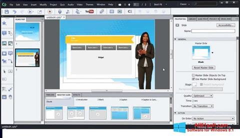 Screenshot Adobe Captivate Windows 8.1