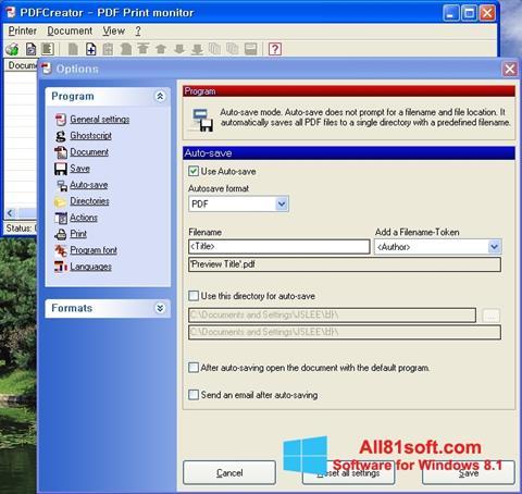 Screenshot PDFCreator Windows 8.1