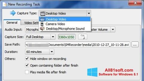 Screenshot SMRecorder Windows 8.1