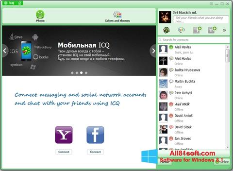 Screenshot ICQ Windows 8.1
