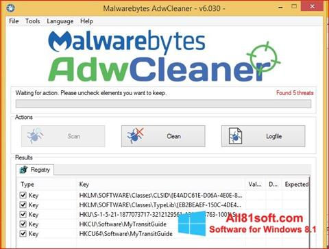 Screenshot AdwCleaner Windows 8.1
