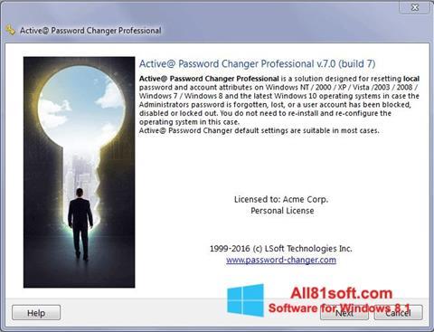Screenshot Active Password Changer Windows 8.1