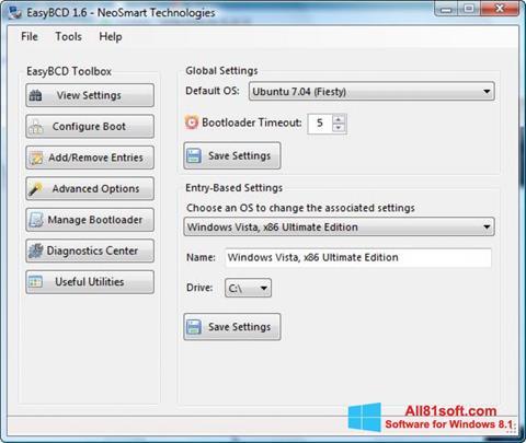 Screenshot EasyBCD Windows 8.1