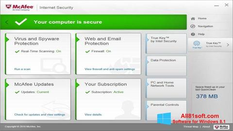 Screenshot McAfee Windows 8.1