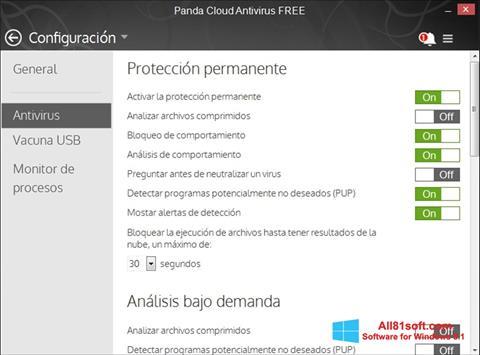 Screenshot Panda Cloud Windows 8.1