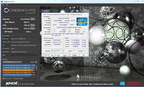 Screenshot CINEBENCH Windows 8.1